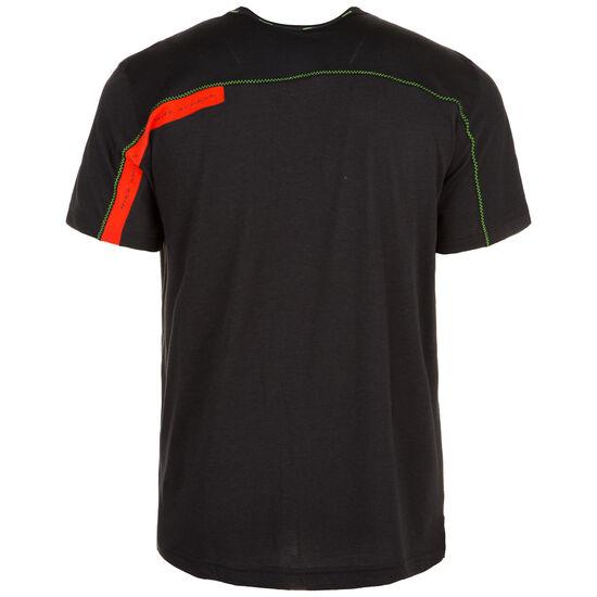 Dri-FIT Trainingsshirt Herren, schwarz / rot, zoom bei OUTFITTER Online