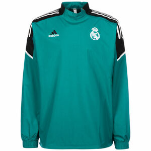 Real Madrid Hybrid Trainingssweat Herren, petrol / schwarz, zoom bei OUTFITTER Online