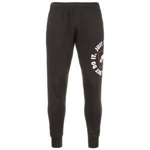 JDI Fleece Jogginghose Herren, schwarz / weiß, zoom bei OUTFITTER Online