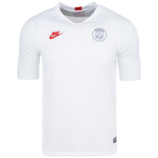 Paris St.-Germain Dry Strike Trainingsshirt Herren, weiß / rot, zoom bei OUTFITTER Online