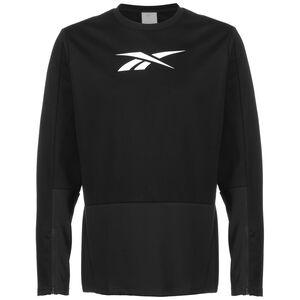 TS Crew Laufsweatshirt Herren, schwarz / weiß, zoom bei OUTFITTER Online