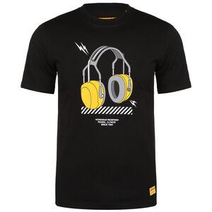CAT Headphones T-Shirt Herren, schwarz / gelb, zoom bei OUTFITTER Online