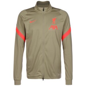FC Liverpool Strike Trainingsjacke Herren, hellbraun / neonrot, zoom bei OUTFITTER Online