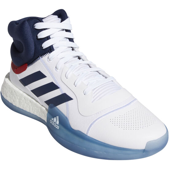 Marquee Boost Basketballschuh Herren, weiß / dunkelblau, zoom bei OUTFITTER Online
