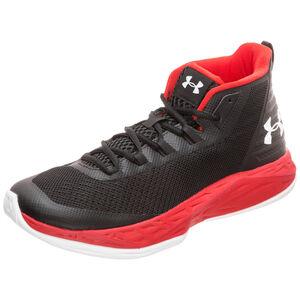 Jet Mid Basketballschuh Herren, schwarz / rot, zoom bei OUTFITTER Online