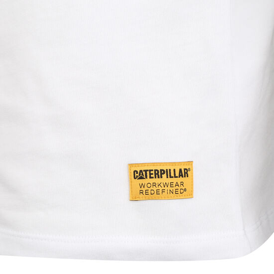 Classic CAT T-Shirt Herren, weiß / schwarz, zoom bei OUTFITTER Online