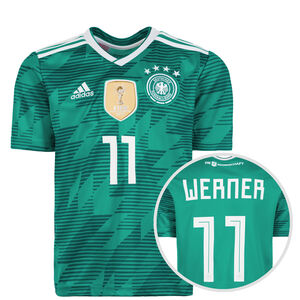 DFB Trikot Away Werner WM 2018 Kinder, Grün, zoom bei OUTFITTER Online