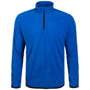 Fleece Team Trainingsshirt Herren, blau / schwarz, zoom bei OUTFITTER Online