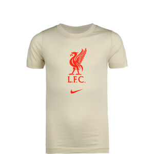 FC Liverpool Evergreen Crest T-Shirt Kinder, beige / rot, zoom bei OUTFITTER Online