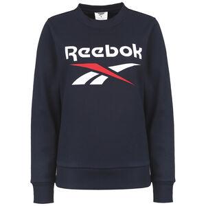 Identity Logo Fleece Sweatshirt Damen, blau / weiß, zoom bei OUTFITTER Online
