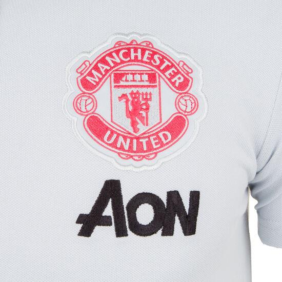 Manchester United Poloshirt Herren, hellgrau / rot, zoom bei OUTFITTER Online