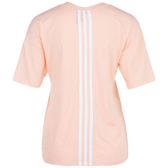 Must Haves 3-Streifen Trainingsshirt Damen, pink / weiß, zoom bei OUTFITTER Online