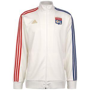 Olympique Lyon 3-Streifen Trainingsjacke Herren, weiß / rot, zoom bei OUTFITTER Online