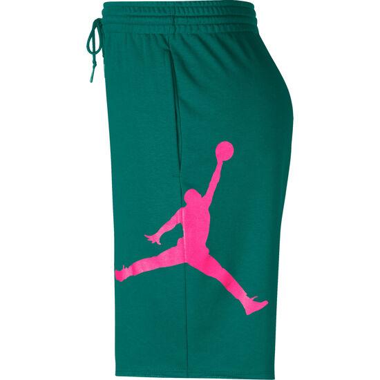 Logo Basketballshorts Herren, dunkelgrün / pink, zoom bei OUTFITTER Online