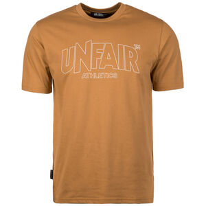 Unfair Athletics Classic Label Outline T-Shirt Herren, hellbraun, zoom bei OUTFITTER Online