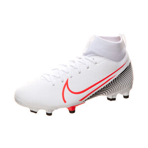Mercurial Superfly 7 Academy MG Fußballschuh Kinder, weiß / rot, zoom bei OUTFITTER Online