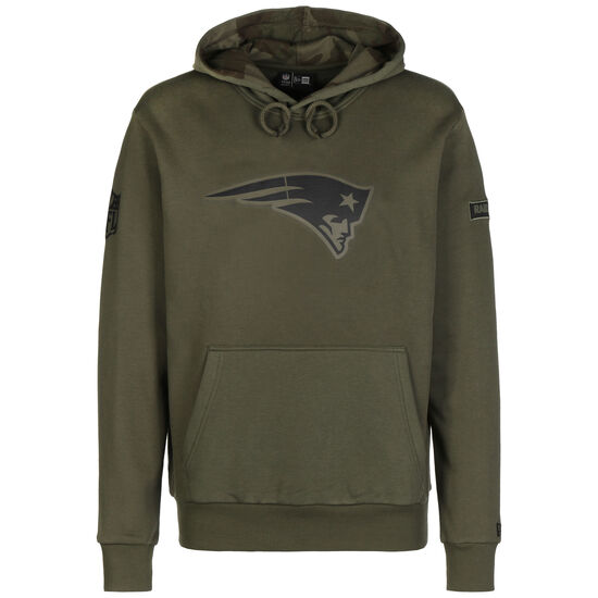 NFL New England Patriots Camo Large Print Kapuzenpullover Herren, oliv, zoom bei OUTFITTER Online