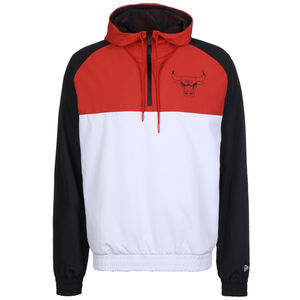 NBA Chicago Bulls Hooded Windbreaker Herren, weiß / rot, zoom bei OUTFITTER Online