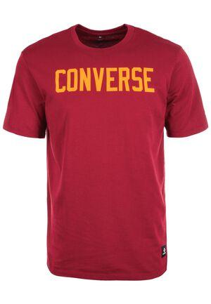 Essentials T-Shirt Herren, rot / gelb, zoom bei OUTFITTER Online