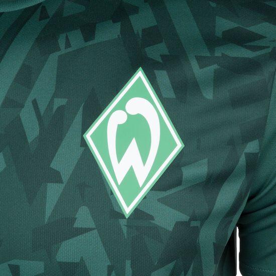 SV Werder Bremen Warm Up Trainingsshirt Herren, dunkelgrün / weiß, zoom bei OUTFITTER Online