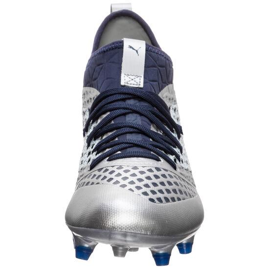 Future 2.3 NETFIT MG Fußballschuh Herren, silber / dunkelblau, zoom bei OUTFITTER Online