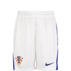 Kroatien Short Home Stadium EM 2021 Kinder, weiß / blau, zoom bei OUTFITTER Online