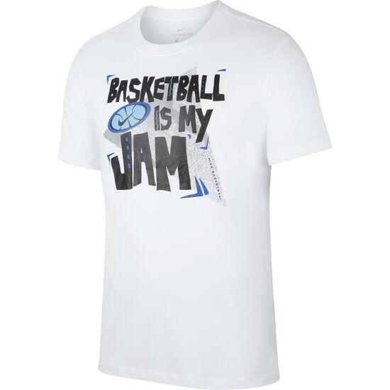Basketball Is My Jam T-Shirt Herren, weiß, zoom bei OUTFITTER Online