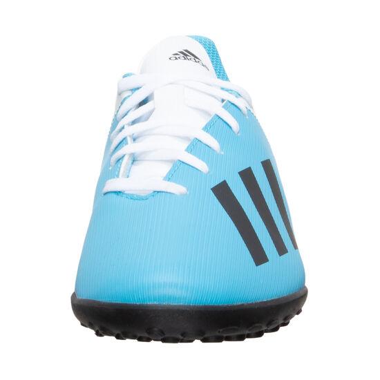 X 19.4 TF Fußballschuh Kinder, hellblau / schwarz, zoom bei OUTFITTER Online