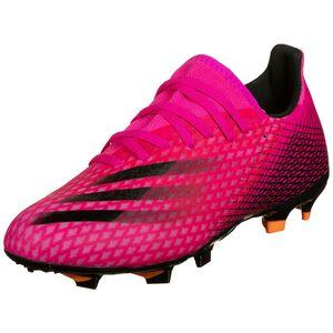 X Ghosted.3 FG Fußballschuh Herren, pink / schwarz, zoom bei OUTFITTER Online