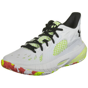 HOVR Havoc 3 Basketballschuh, beige / neongelb, zoom bei OUTFITTER Online