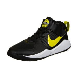 Team Hustle D 9 Basketballschuh Kinder, schwarz / gelb, zoom bei OUTFITTER Online