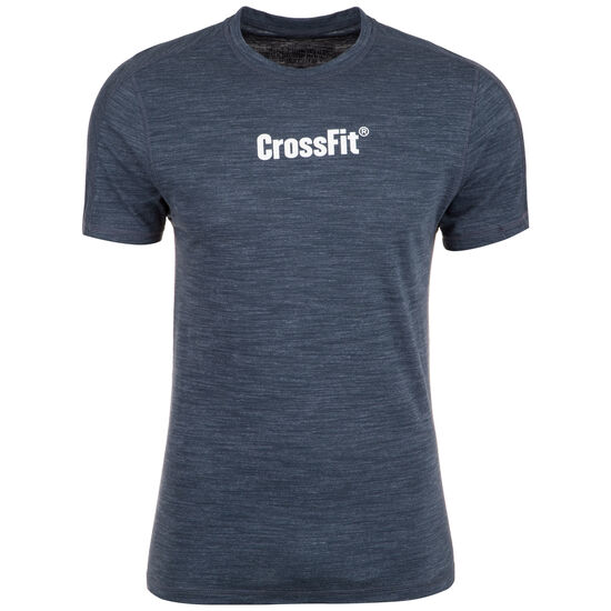 CrossFit® Marble Mélange T-Shirt Herren, dunkelblau, zoom bei OUTFITTER Online