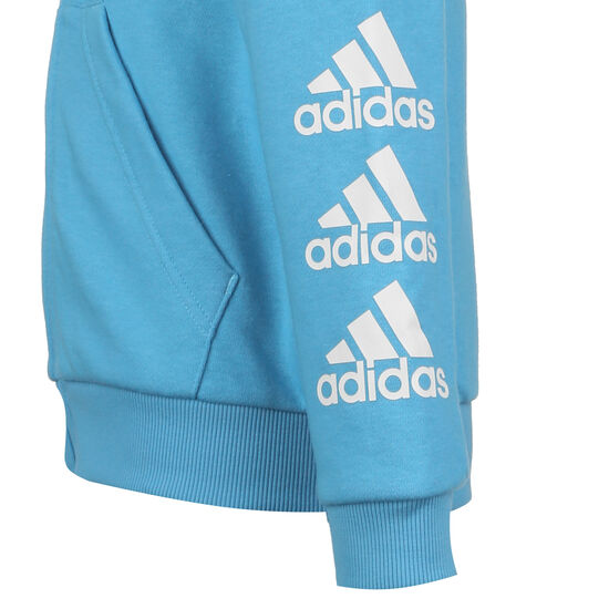 Must Haves Badge of Sport Kapuzensweatjacke Kinder, hellblau / weiß, zoom bei OUTFITTER Online