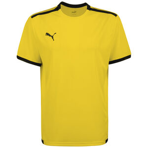 TeamLIGA Fußballtrikot Herren, gelb / schwarz, zoom bei OUTFITTER Online