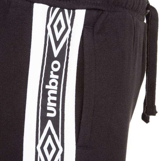 Taped Fleece Jogginghose Herren, schwarz / weiß, zoom bei OUTFITTER Online