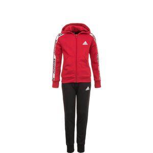 Hooded Trainingsanzug Kinder, rot / schwarz, zoom bei OUTFITTER Online