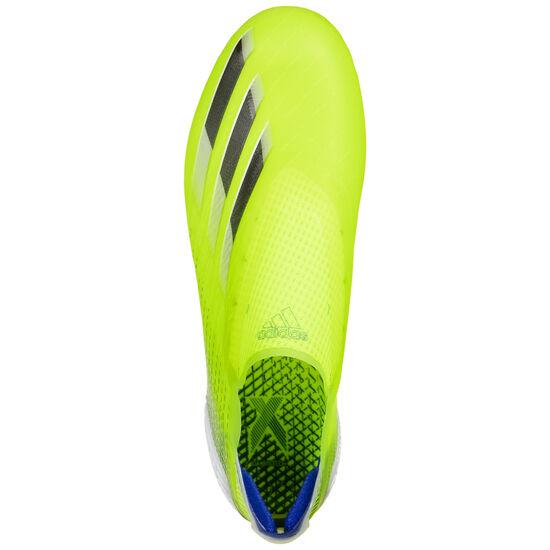 X Ghosted+ FG Fußballschuh Herren, neongelb / blau, zoom bei OUTFITTER Online