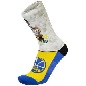 Stephen Curry Big Head Socken, blau / weiß, zoom bei OUTFITTER Online