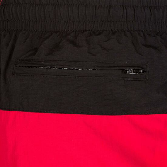 Block Swim Short Herren, schwarz / rot, zoom bei OUTFITTER Online