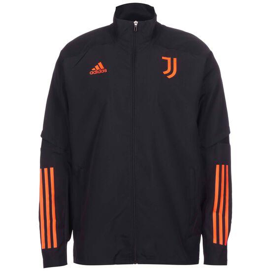 Juventus Turin Präsentationsjacke Herren, schwarz / orange, zoom bei OUTFITTER Online