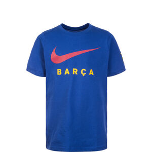 FC Barcelona Large Swoosh T-Shirt Kinder, blau, zoom bei OUTFITTER Online