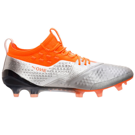 Puma ONE 1 Lth FG/AG Fußballschuh Herren, Silber, zoom bei OUTFITTER Online