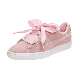 Suede Heart Valentine Sneaker Kinder, Pink, zoom bei OUTFITTER Online