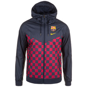 FC Barcelona Woven Windrunner Herren, dunkelblau / rot, zoom bei OUTFITTER Online