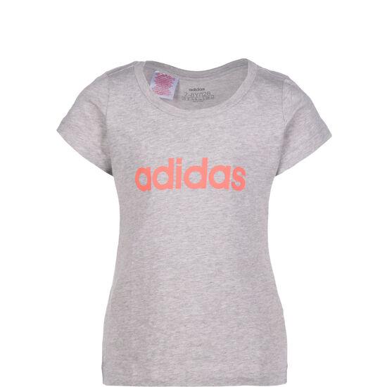 Essentials Linear T-Shirt Kinder, grau / korall, zoom bei OUTFITTER Online