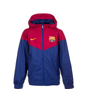 FC Barcelona Windrunner Kapuzenjacke Kinder, Blau, zoom bei OUTFITTER Online