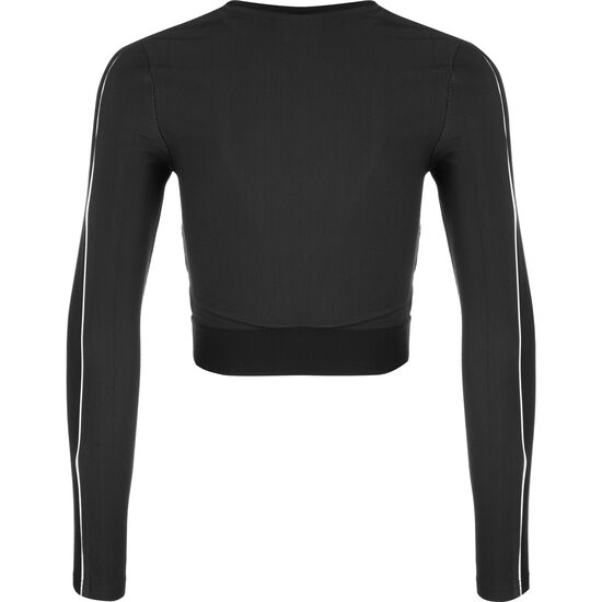 Classic Rib Longsleeve Damen, schwarz / weiß, zoom bei OUTFITTER Online