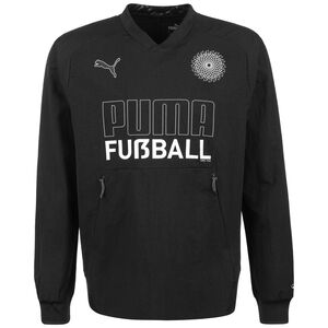 Fußball King Drill Sweatshirt Herren, schwarz / weiß, zoom bei OUTFITTER Online