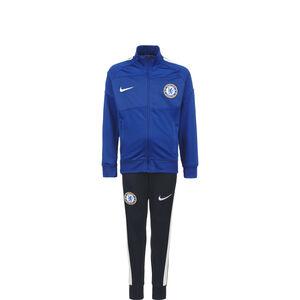 FC Chelsea Academy Pro Trainingsanzug Kinder, blau / dunkelblau, zoom bei OUTFITTER Online