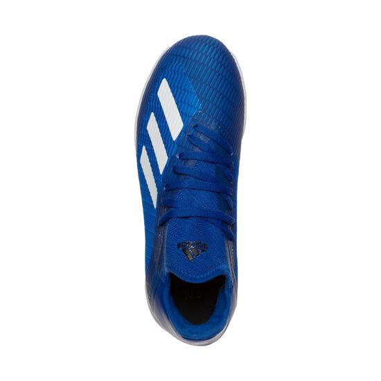 X 19.3 Indoor Fußballschuh Kinder, blau / weiß, zoom bei OUTFITTER Online